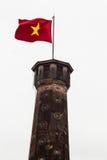 红旗是标志在越南 库存图片