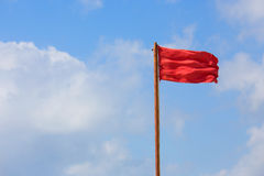 红旗警告 库存图片