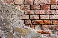 红橙色砖墙14 免版税库存图片