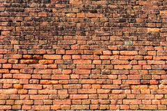 红橙色砖墙2 库存照片