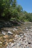 红河的垂直在新墨西哥 库存图片