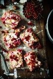 红浆果和榛子酒吧 土气的样式 图库摄影