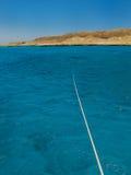红海和海岛 免版税库存照片