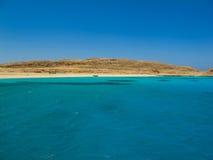红海和海岛 免版税库存图片