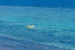红海山和海岸  免版税库存图片