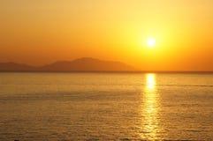 红海的日落 免版税库存图片