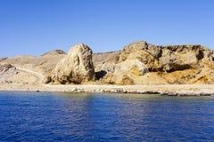 红海的看法 库存照片
