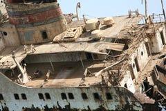 红海船击毁 免版税库存图片