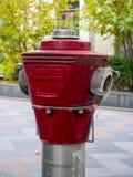 红火在市的消防栓公司Hawle沃罗涅日之外 库存照片