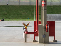 红火消防栓 免版税图库摄影