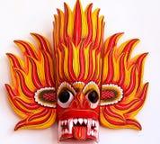 红火面具,斯里兰卡 免版税库存图片