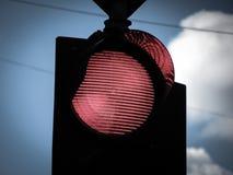 红灯停止交通 免版税库存图片