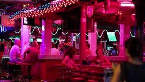 红灯区在芭达亚,泰国 股票视频