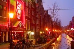 红灯,阿姆斯特丹 库存图片