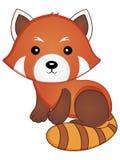 红熊猫传染媒介例证 图库摄影