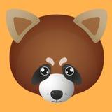 红熊猫具体化 免版税库存图片
