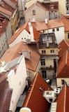 红瓦顶上面在布拉格欧洲 免版税图库摄影