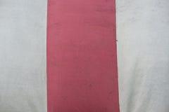 红白镶边纺织品纹理 免版税库存图片