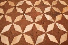 红砂岩和大理石难倒马赛克, Taj Mahal 免版税图库摄影