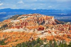 红砂岩在布莱斯峡谷国家公园不祥在犹他,美国 图库摄影