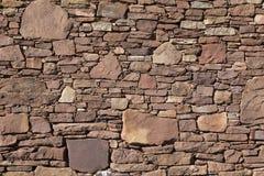 红砂岩墙壁 库存照片
