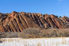 红砂岩岩石 库存图片