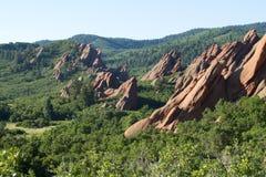 红砂岩峭壁 免版税图库摄影