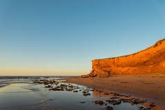 红砂岩峭壁 库存照片