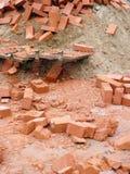 红砖堆  免版税库存图片