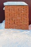 红砖堆 图库摄影