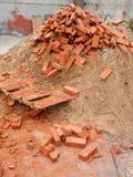 红砖堆  库存图片