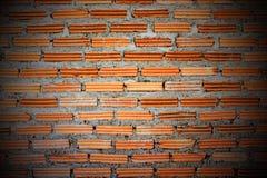 红砖墙壁。 免版税库存照片