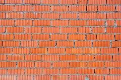 红砖墙壁与被吹奏的纹理的 库存照片