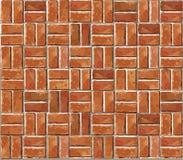 红砖墙壁无缝的例证背景。 免版税库存图片