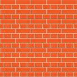 红砖墙壁无缝的样式 库存例证
