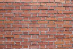 红砖墙壁是自然的 免版税库存照片