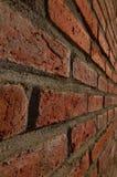 红砖墙壁有一个角度 库存照片