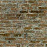 红砖墙壁的无缝的样式 免版税图库摄影