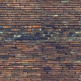 红砖墙壁的无缝的样式 图库摄影