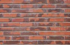 红砖墙壁纹理背景 免版税库存图片
