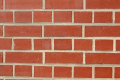 红砖墙壁背景纹理 免版税库存图片