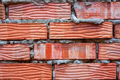 红砖墙壁背景 免版税库存照片
