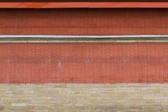 红砖墙壁背景 免版税图库摄影