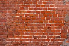 红砖墙壁 免版税图库摄影