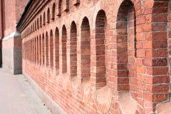 红砖墙壁 免版税库存图片