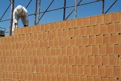 红砖建造场所的墙壁建筑 免版税库存照片