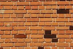 红砖房子墙壁 库存照片