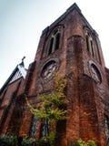 红砖教会 库存照片