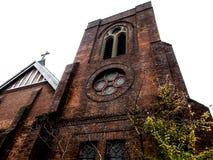 红砖教会 免版税库存图片