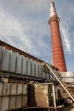 红砖烟囱 库存图片